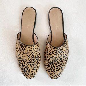 Yosi Samra | Leopard Calf Hair Parker Slides Sz 11